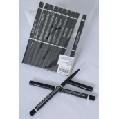 Eye & Lip Liner Pencil Black Auto Retracting/DZ **Black** W OPP Bag & UPC Code