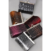 "Coin Purse Animal Patent W Hard Case/DZ Size-3.5""x 2.5"" Wide,2 of each Color Asst, Opp Bag -"