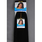 Human Hair Yaki Bulk 18inch Braiding Hair #1/PC Hair Color #1,Jet Black,Braiding Hair,W Display Card & OPP bag -