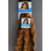 Human Hair Super Bulk 18inch Braiding Hair #1/PC Hair Color #1 Jet Black,**Super Bulk=Wet & Wave**,W Display Card & OPP bag -