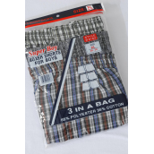 Boy's Boxer Shorts Color Asst X Large/DZ **X Large** 3pcs per Pack,4pack=Dozen,W UPC Code