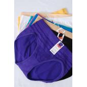 Panty Lady Microfiber Brief/DZ **Size Free** 12 Color Asst