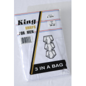Men's White Cotton Brief Small/DZ **Small** each Has 3 pcs per Pack,4 Pack=Dozen,W UPC Code,Special Close Out,NO RETURN