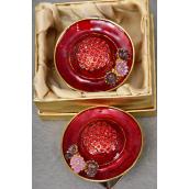 """Gift Box Enamel Red hat W Rhinestones/PC Size-2.5""""x 2.5"""" Wide,W Gift Box -"""