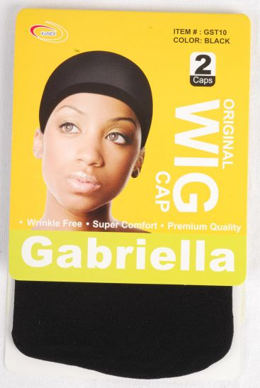 WIG Stocking Cap Black 24 pcs/Dz