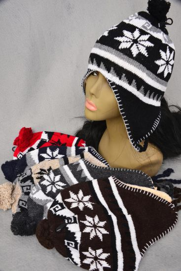 Knit CAP Snow flake BALL Fleece/DZ