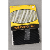 Weaving Net Black/DZ Fits All Head Sizes Display Card & Individual OPP Bag & UPC Code