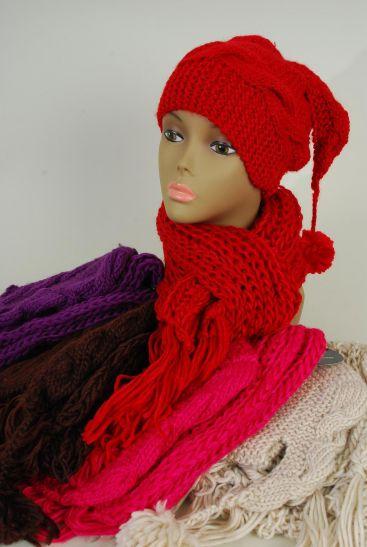 2pcs HAT Sets,Hand Crochest Scarf & HAT Sets Multi/Sets