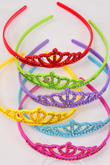 Headband TIARA Acrylic Color Stones/DZ