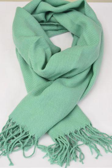 **Teal Green** Size-70''x 25'' Wide,70% PASHMINA,30% Silk,W OPP Bag