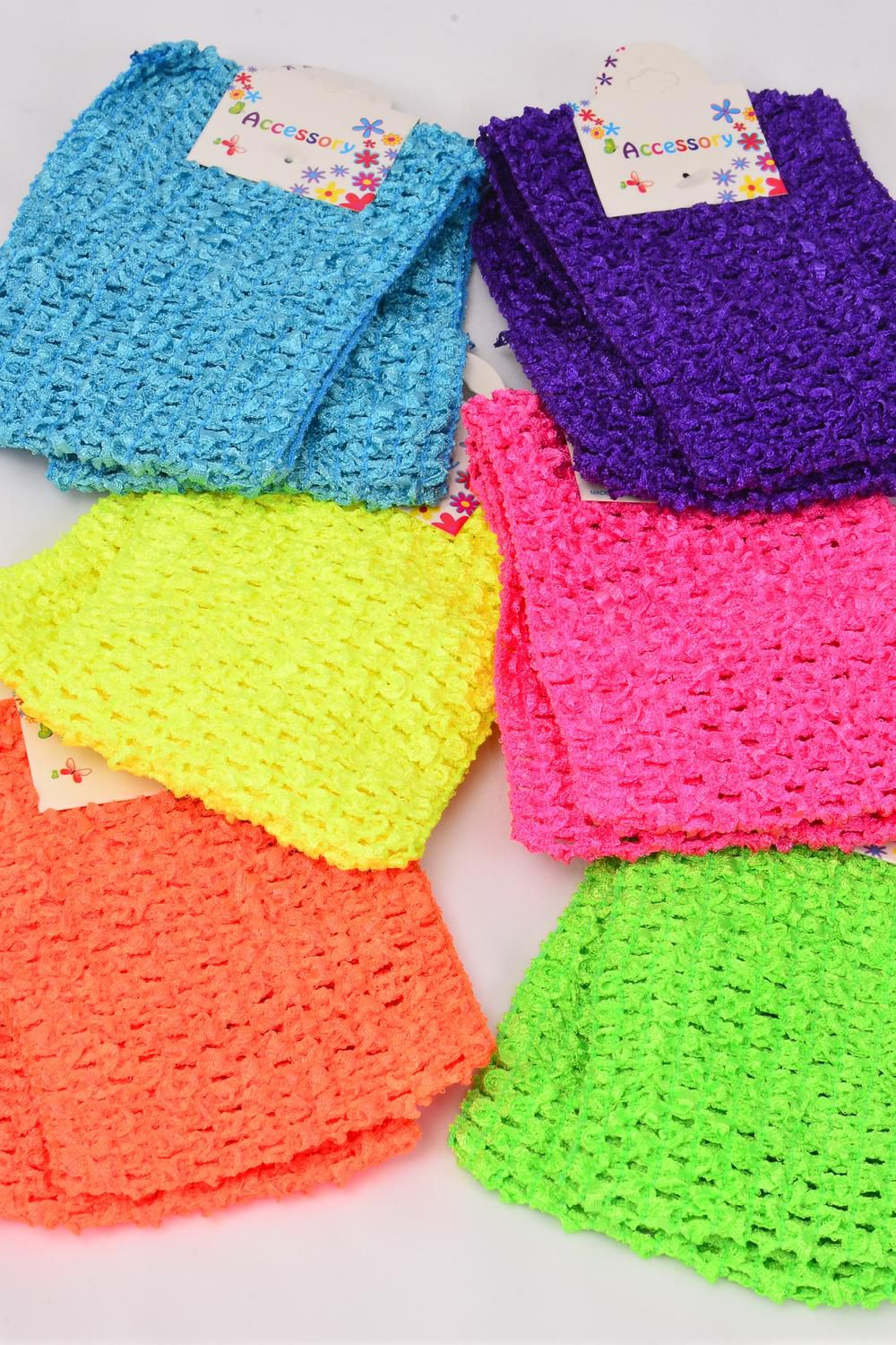 "Ballerina Headband Turban 4 Inch Wide 24 pcs Caribbean Mix/DZ **Caribbean Mix** Stretch,Size-4"" Wide,2 of each Color Asst,Hang Tag & OPP Bag & UPC Code"