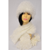 """Magic Scarf 3 pcs Sets Stretchey White/Sets **White** Stretch,Scarf Size-13""""x 64"""" Wide, Display Card & OPP Bag & UPC Code - None"""