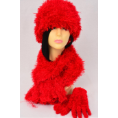 """Magic Scarf 3 pcs Sets Stretchey Red/Sets **Red** Stretch,Scarf Size-13""""x 64"""" Wide, Display Card & OPP Bag & UPC Code - None"""