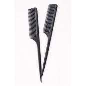 Rat Tail Comb Med Tooth Black/DZ **Black** OPP Bag