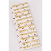 """Tie Clip D Style/DZ **D Style** Size-2.5""""x 0.25"""" Wide,OPP Bag,Good Quaility"""
