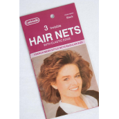 Hair Net Black Invisible Regular Size/DZ each card has 3pcs,12card=DZ,French Mesh Style