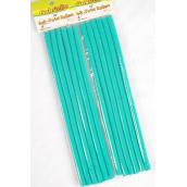 """Long Rubber Rods Teal Green 6pcs/pk12pk/DZ **Teal Green**  5/16"""",10"""" Long,Each Pack have 6 pcs,12 pack= Dozen"""