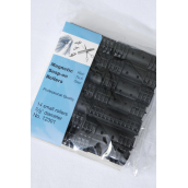 """Magnetic Snap On Rollers 14ct Small Black/DZ **Black** Size-5/8"""" Dia Wide14ct Per Pack,12Pack=Dozen"""
