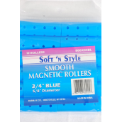 Smooth Magnetic Rollers 144 pcs Blue/DZ **Blue* Size-12-3/4 Rollerds 5/8 Diam,each Have 12 pcs,12 Bag=Pack