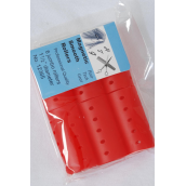 "Magnetic Smooth Rollers 6ct Jumbo Red/DZ **Red** Size-1 1/2"" Dia Wide,6pcs Per Pack,12Pack=Dozen"