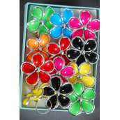 "Rings Poly Large Flower Silver Trim Multi/DZ **Adjustable** Flower Size-1.5"" Wide,2 Red,2 Black,2 Fuchsia,2 Yellow,2 LIme,1 Blue,1 Orange, 7 Color Asst"