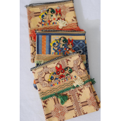"Purse,Tapestry Neck Purse/DZ Size-6""x 6"" Wide,4 of each Color Asst,W OPP bag - Some defects - Close Out"