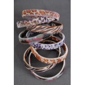 "Bracelet Or Sleeve Holder Stretch/DZ **Stretch** Size- 0.5"" Wide,6 different Pattern Mix,W OPP bag -"