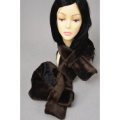 "Neck Scarf Brown Faux Scarf/PC Size-30""x7"" Wide,W OPP Bag"