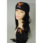 Tie down Cap Black USA Bike Embroidery/DZ **USA Bike** 100% cotton,Good Quality,W Hang tag & OPP bag & UPC Code                                                             -