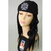 Tie-down Cap Black Choppers Embroidery/DZ **Chopper** Good Quality,100% Cotton,W Hang Tag & OPP bag & UPC Code