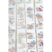 """Hair Snapclips for Toddler 96pcs ,1"""" Long/DZ Color Asst Choose Multi, Polka-Dot, Gingham, Pastel, Tiedye"""