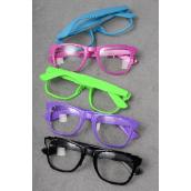 Sun glass Digi W Clear Lens Color Asst/DZ Clear Lens,8 Black,2 Purple,2 Pink,2 Lime mix,OPP Bag & UPC Code,come W Box -
