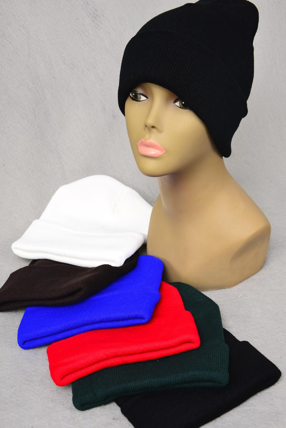 Skull Cap Polyester Heavy Weight/DZ **Good Quality** Choose Colors,Hang tag & OPP bag & UPC Code -