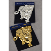 "Brooch Tiger Pin Matte Finish/PC Size-3""x 2.5"" Wide,Display Card & OPP bag & UPC Code"