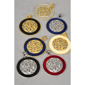 Pendant Initial Round Shape W Enimal Color 2.5''x2.5''/DZ ** Special Promation** 2.5''x2.5'' Choose Colors