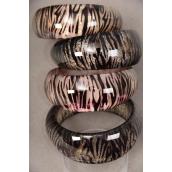 "Bangle Poly Zebra Print/PC Size-1.5""x 2.75"",Choose Colors,Hang tag & OPP Bag & UPC Code"