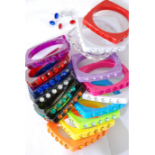 "Bangle & Earrings Sets Square/DZ Size-0.5""x 2.75"" Dia Wide,Choose Colors,Hang Tag & OPP Bag & UPC Code"