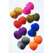 "Earrings Seashell Heart Carve Color Asst/DZ **Fish Hook** Size-2""x 1.75,2 Blue,2 Olive,2 Black.2 Brown.1 Red,1 Fuchsia,1 Purple,1 Orang,8 Color Asst,Earring Card & OPP bag & UPC code"
