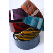 "Headband Acrylic Wide Design/DZ Size-2"" Wide,2 Black,2 Blue,2 Fuchsia,2 Olive,2 Burgundy,1 Purple,1 Orange,7 Color Asst,Hang tag & Opp bag & UPC Code -"
