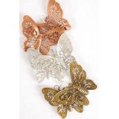 "Earrings Metal Butterfly Antique/DZ **Fish Hook** Size-2.5""x2.25"" Wide,4 Brass,4 Copper,4 Pewter Mix,Earring card & OPP Bag & UPC Code"
