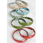 "Earrings Metal Hoop Leopard Prints/DZ *Post** Size-1.75"" Wide,2 Purple,2 Blue,2 Red,2 Brown,2 White,1 Orange,1 Lime,7 Color Mix,Earring card & OPP bag & UPC Code -"