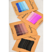"Bobby Pins Color Mix with Tips 24ct/DZ Size-2"" Long,3 of each Color Asst,each card has 24ct,12 Card=Dozen,Display Card & OPP Bag & UPC Code"