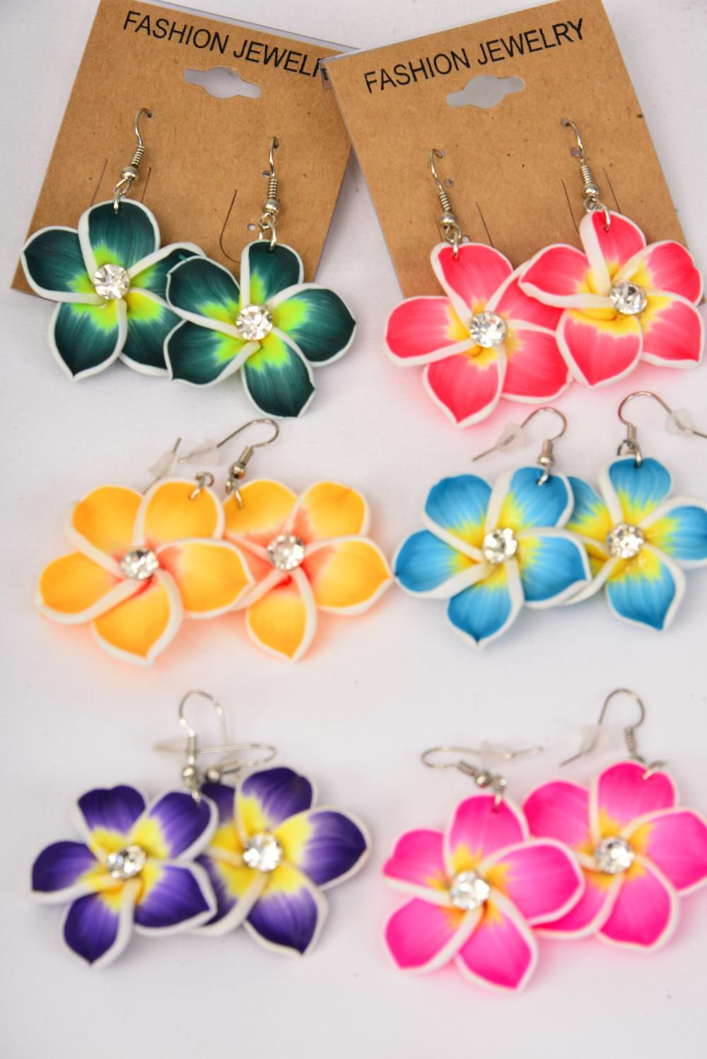 earrings paint flowers aloha color asstdz fish hook flower size - Images Of Flowers To Color 2