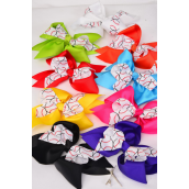 "Hair Bow Cheer Bow Type Baseball Print Multi Grosgrain Bowtie/DZ **Multi** Alligator Clip,Bow-7""x 6"" Wide,2 Royal,2 Yellow,2 Fuchsia,2 Purple,1 Blue,1 White,1 Orange,1 Lime,8 Color Asst,W Clear Strip & UPC Code"