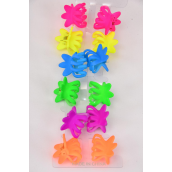 "Jaw Clip Mini Acrylic Neon Color Asst/DZ Size-1""x1"" Wide,2 of each Color Asst,12 on Display Card & OPP bag & UPC Code -"
