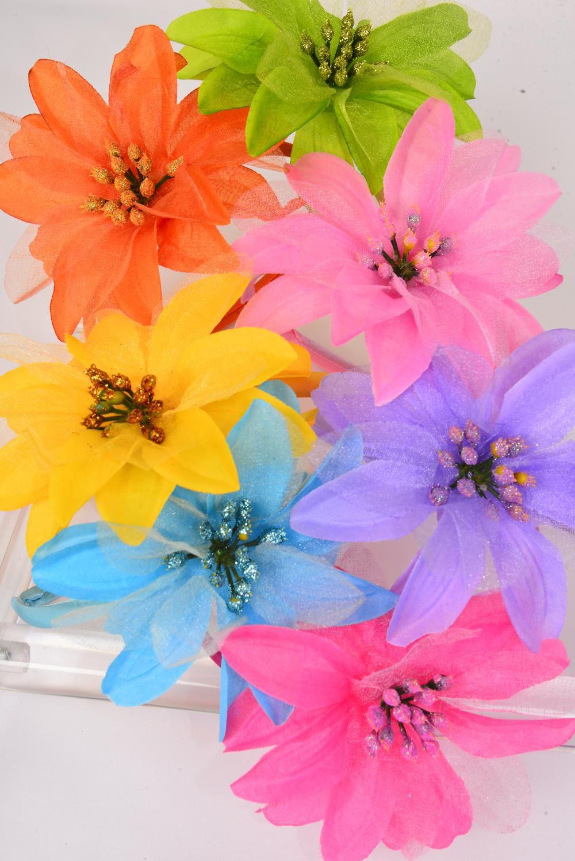 Headband Horseshoe Satin Large Silk Flowerdz Flower 45 Wide2