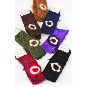 "Ballerina Headband 24 pcs Crochet Flower Stretch/DZ **Dark Multi** Stretch,Ballerina-1.5"" Wide,Flower-2.5"" wide,2 Black,2 Brown,2 Purple,2 Burgundy,2 Navy,1 Camel,1 Olive mix,2 pecs per card,12card=DZ"