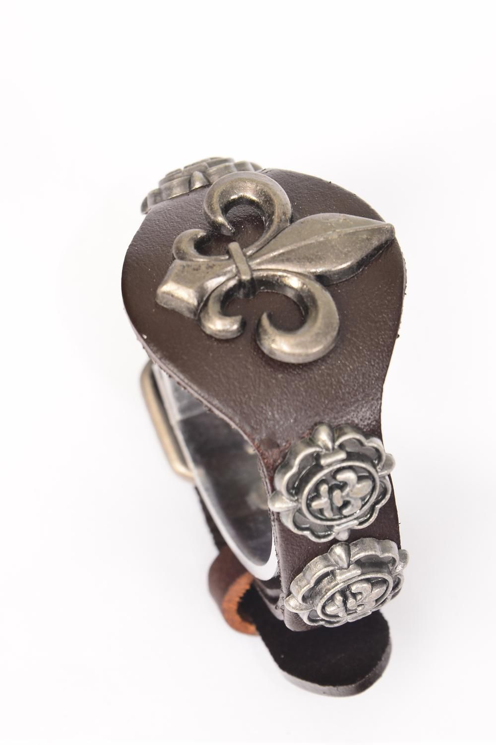 Bracelet Leather Strap Belt Buckle Flue Delis Brown/PC **Unisex** Brown,Buckle Adjustable Size,OPP Bag & UPC Code