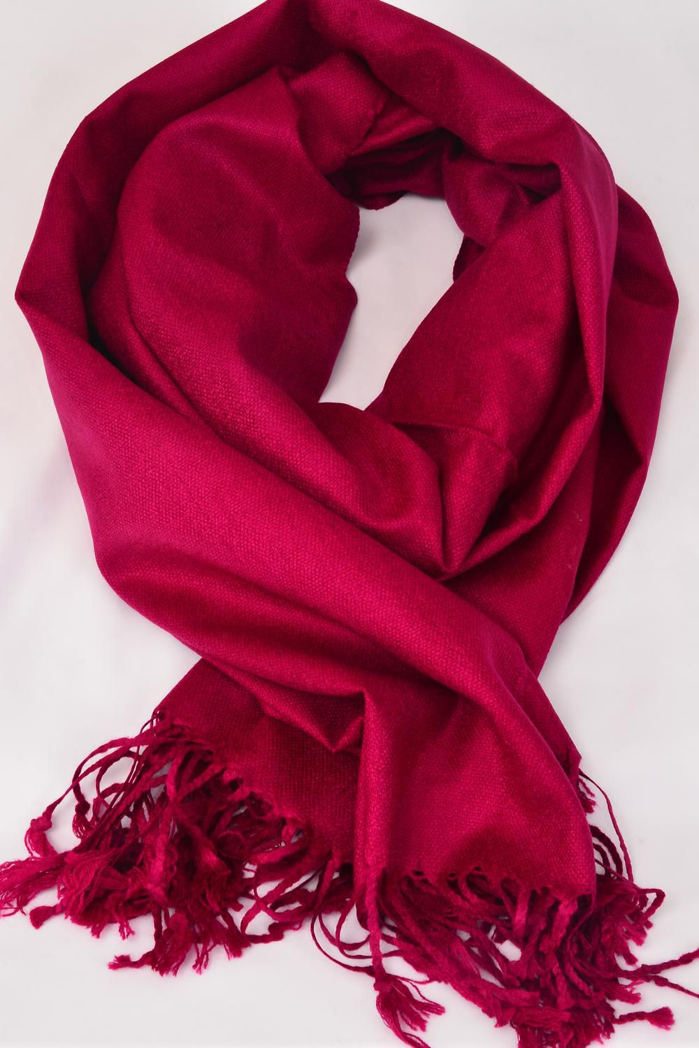 "**Plum** Size-70""x 25"" Wide,70% Pashmina,30% Silk,W OPP Bag Scarf Pashmina Plum/PC"