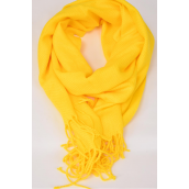 "**Yellow** Size-70""x 25"" Wide,70% Pashmina,30% Silk,W OPP Bag Scarf Pashmina Yellow/PC"